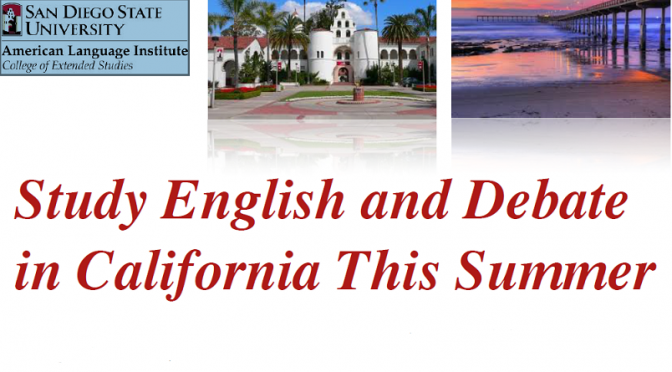 SDSU-ALI/Summer Debate Camp (Apply Now!)